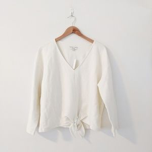 NWT Madewell Tie Front Ribbed Top